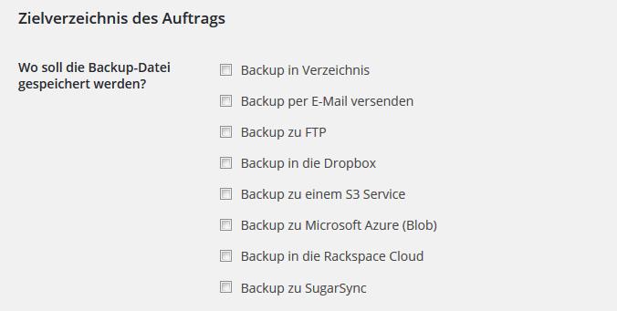 Wohin mit dem Backup?
