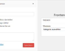 """WordPress: Kategorie-Auswahlbox mit doppelter """"Überschrift"""""""