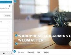Der Customizer von WordPress: Anpassungen im Frontend mit Live-Vorschau