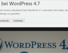WordPress 4.7 ist da