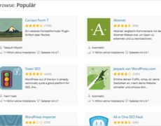 10 beliebteste WordPress-Plugins im Dezember 2016