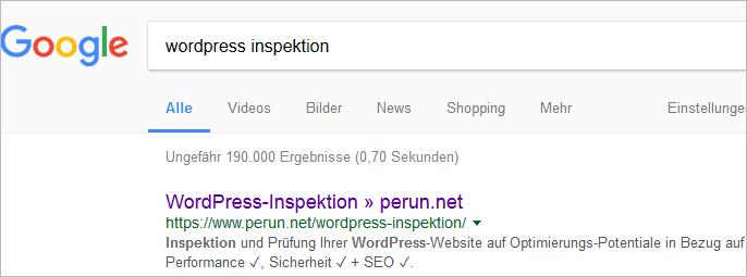 Die Meta-Beschreibung in den Suchergebnissen