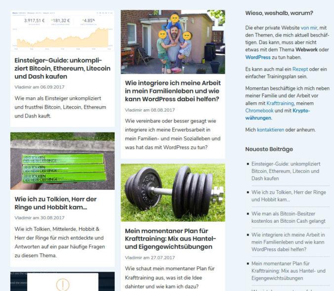 Blogübersicht im Masonry-Style