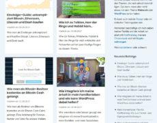 4 Möglichkeiten um Blogbeiträge in WordPress als Grid oder im Masonry-Style auszugeben