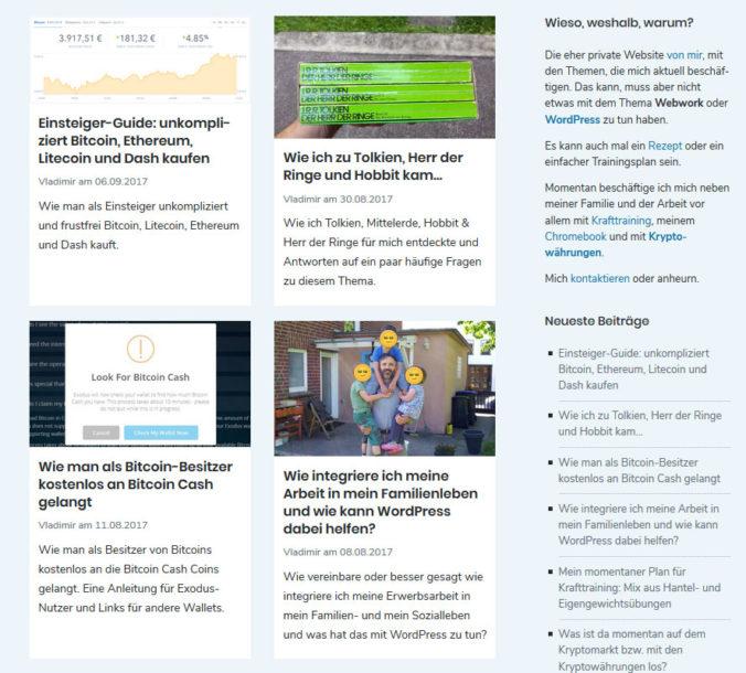 CSS-Gridds im Einsatz in der Blogübersicht