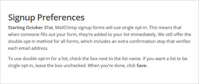 MailChimp: double-opt-in ist nicht mehr die Standardeinstellung