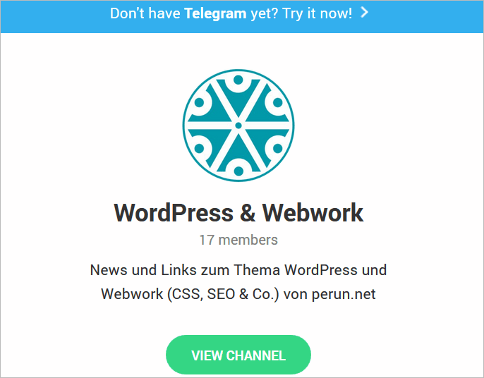 WordPress-News auf Telegram
