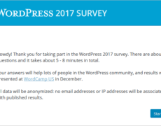 Die offizielle WordPress-Umfrage 2017