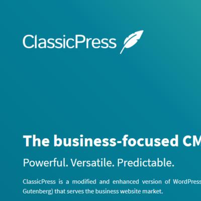 Classic-Press: Screenshot-Website
