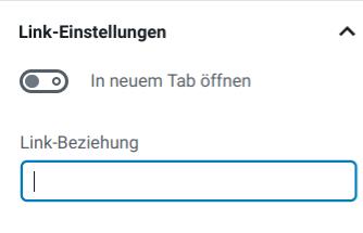 neue Link-Einstellungen für den Gutenberg-Block Button