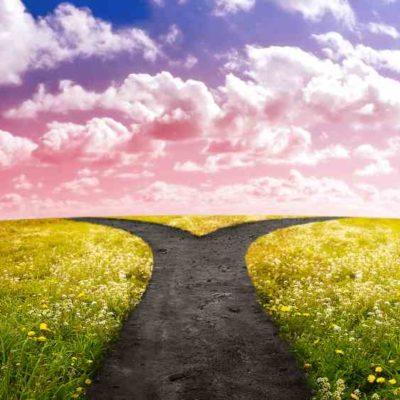 Smbolbild: zwei Richtungen, Abzweigung