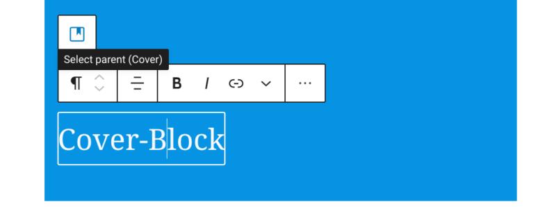 Absatz im Cover-Block