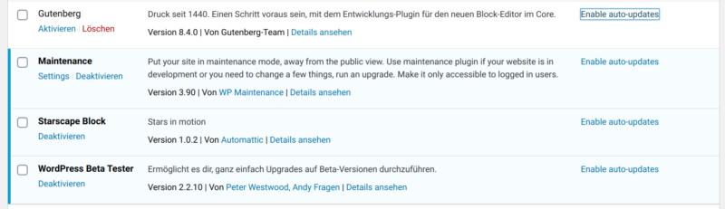 Wordpress 5.5 erlaubt jetzt auto-Updates für Plugins