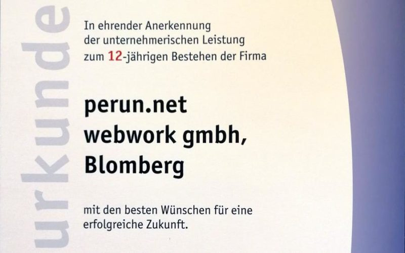 perun.net webwork gmbh: 12 Jahre