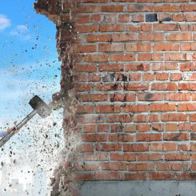 Symbolbild: Mauer einreißen