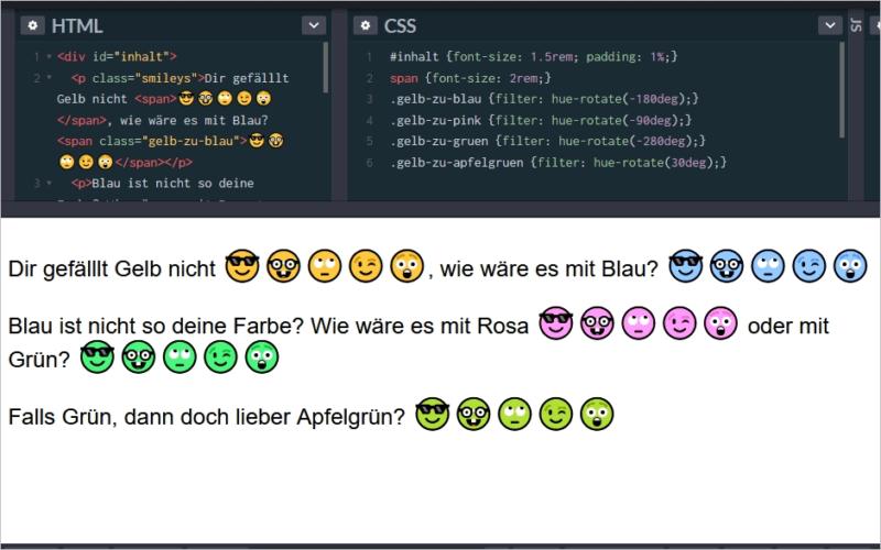 Emoji-Farbe mit CSS verändern
